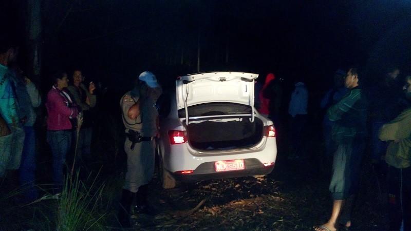 Veículo da vítima foi encontrado abandonado na localidade de Lajeado - Foto: Antonio da Luz/Sul in Foco