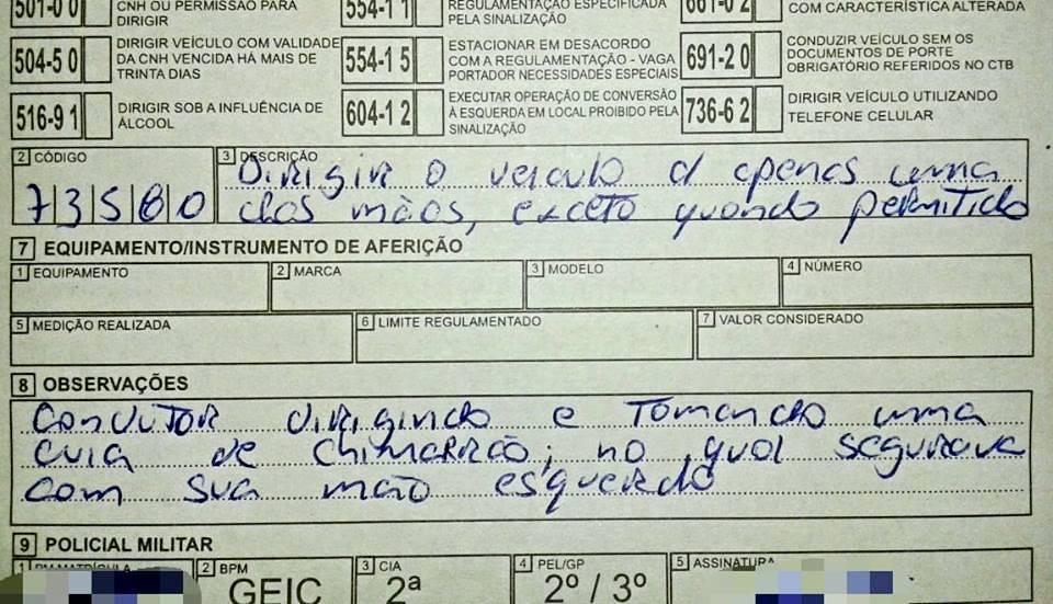 Foto: Divulgação PM de Cocal do Sul