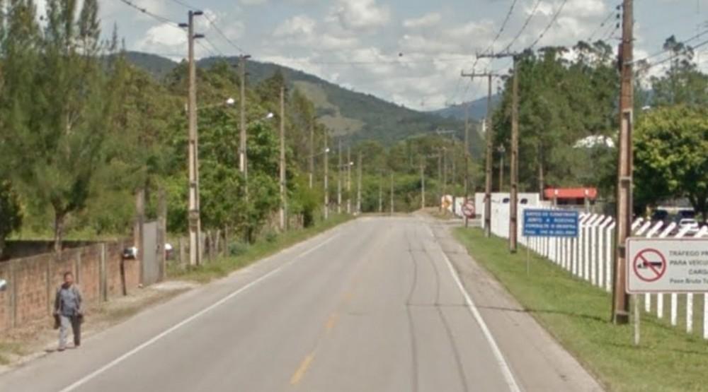 Foto: Trecho da SC-437 em que aconteceu o acidente/ Google Maps