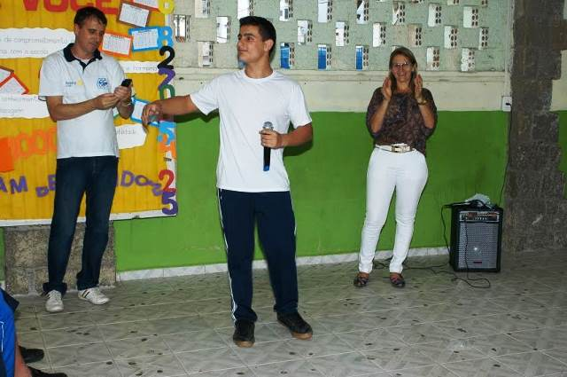 Cultura local é apresentada a intercambistas na Escola Visconde de Taunay, em Lauro Müller15