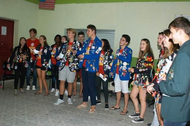 Cultura local é apresentada a intercambistas na Escola Visconde de Taunay, em Lauro Müller16