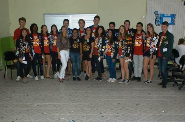 Cultura local é apresentada a intercambistas na Escola Visconde de Taunay, em Lauro Müller18