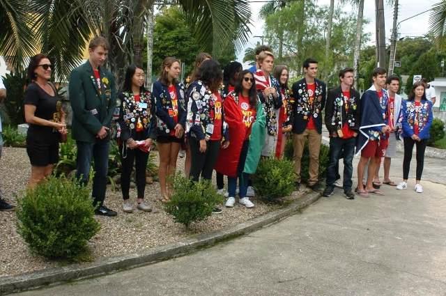 Cultura local é apresentada a intercambistas na Escola Visconde de Taunay, em Lauro Müller2