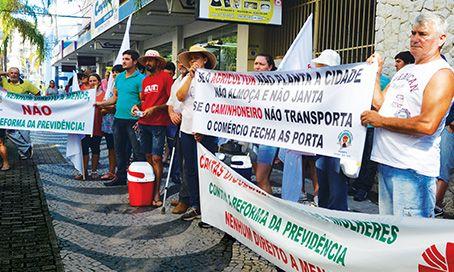 Manifestação reforma da Previdência é questionada em Tubarão
