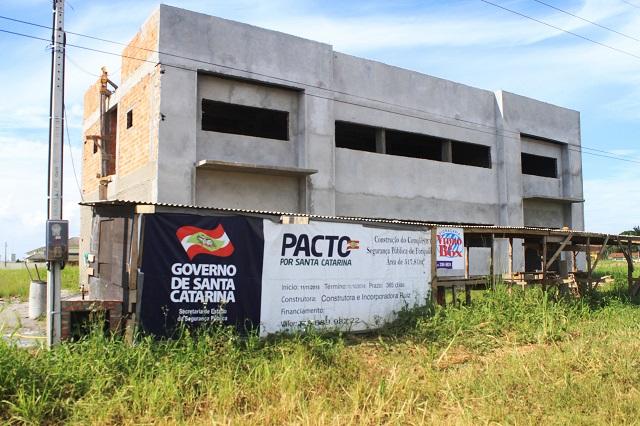 Complexo de Segurança em Forquilhinha está com obra atrasada