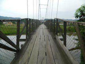 Ponte pênsil será interditada para reforma na próxima segunda-feira, em Braço do Norte