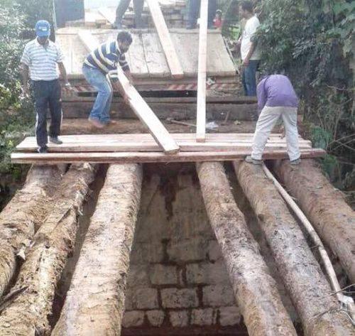 Prefeitura de Braço do Norte reforma ponte no bairro Bela Vista