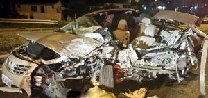 Acidente na Via Expressa foi registrado na madrugada desta quarta (14) (Foto PRF Divulgação)
