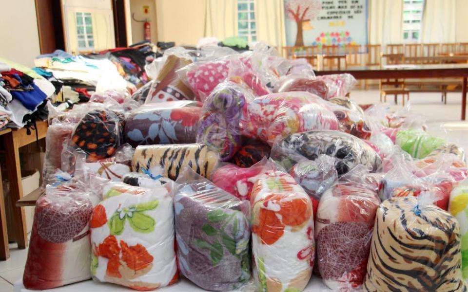 Afas distribui roupas arrecadadas na Campanha do Agasalho em Lauro Müller