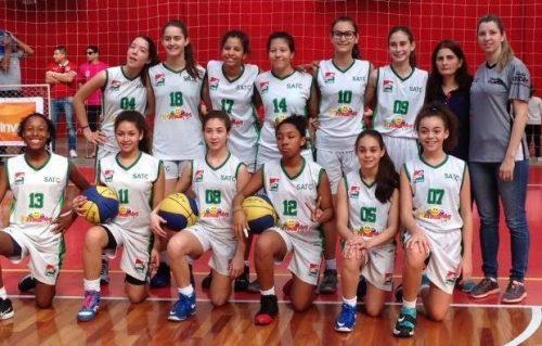 Basquete sub-13 da Satc está na final do Catarinense