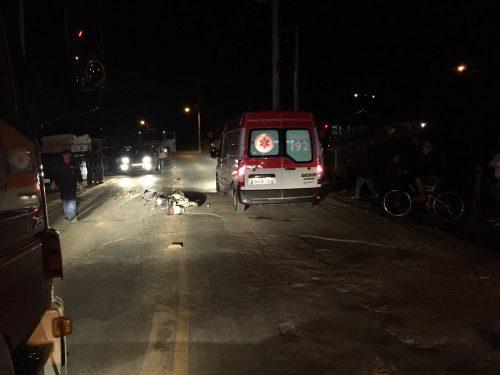 Condutor da moto morreu no local do acidente (Foto: Samu)