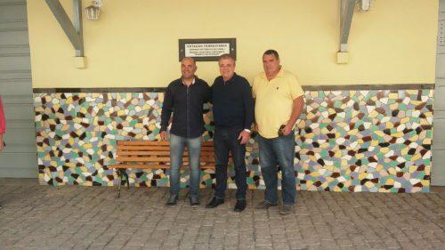 Deputado federal Marco Tebaldi visita Estação Ferroviária, em Lauro Müller