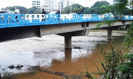 Nível do rio Tubarão está baixando