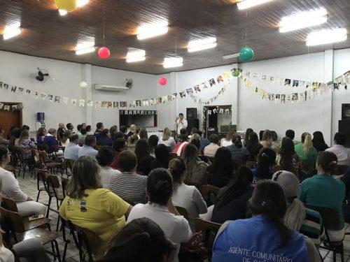 Prefeito de Braço do Norte reúne-se com cerca de 200 colaboradores da Secretaria da Saúde