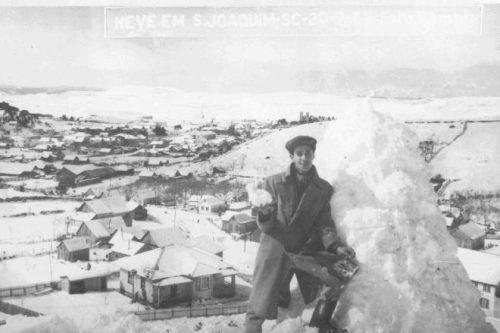 São Joaquim teve 1,30 metro de neve acumulada em 1957, que pôde ser vista nos campos da Serra por cerca de 15 dias