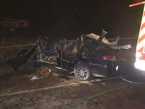 Uma pessoa morre em colisão na SC-447, entre Meleiro e Morro Grande3