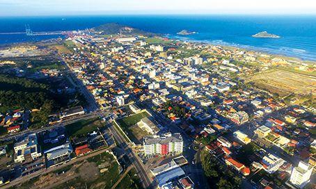 Vista da cidade de Imbituba