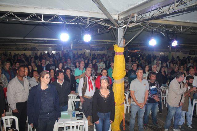 abertura da Festa da Tainha, em Balneário Rincão