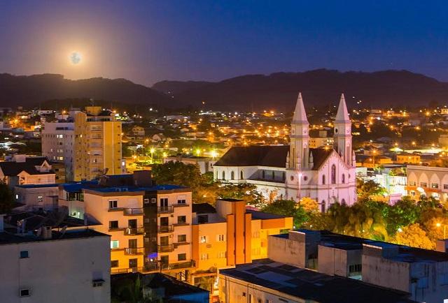 Vista da cidade de Braço do Norte