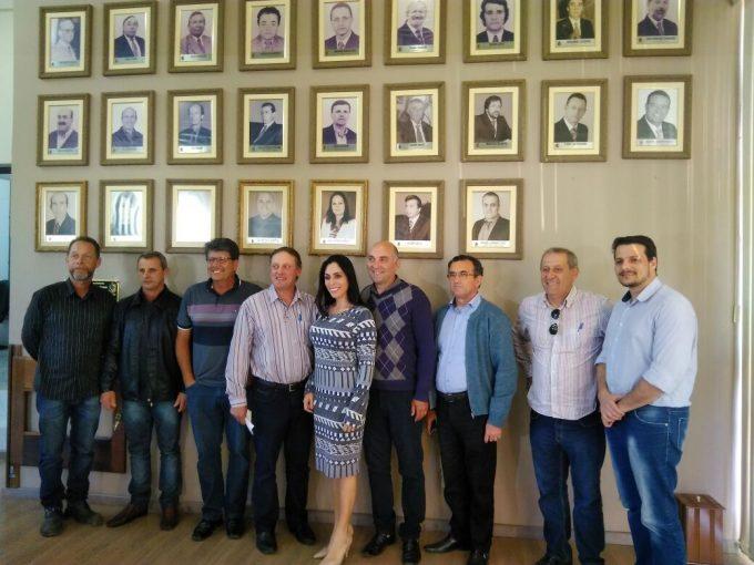 Geovânia de Sá visita Lauro Müller