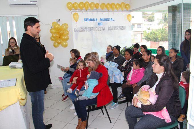 Atividades marcam 'Semana Mundial de Amamentação' em Lauro Müller
