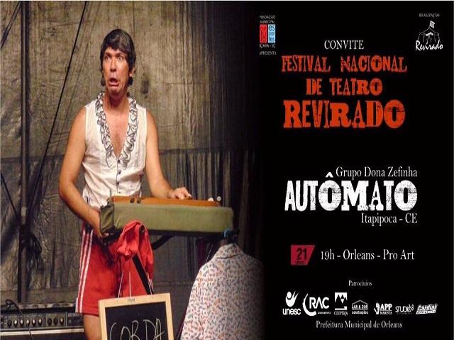 Apresentação teatral do Cirquinho do Revirado será nesta quinta-feira, em Orleans