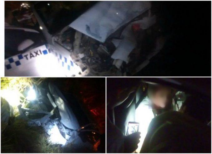 Taxista de Braço do Norte fica ferida após colisão frontal na SC-380, em Grão Pará