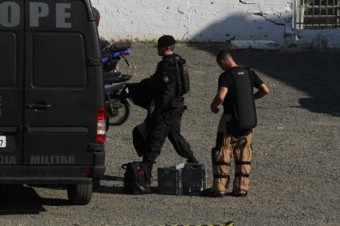 Bope retira explosivo de empresa de treinamento de vigilantes, em Criciúma