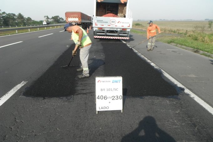 DNITSC fará trabalhos de recomposição do pavimento da BR-101, entre Içara a Araranguá - crédito Neovia Engenharia (1)