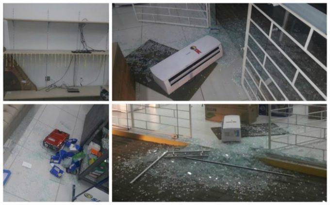 Loja de móveis e eletrodomésticos é arrombada e tem objetos furtados, em Gravatal