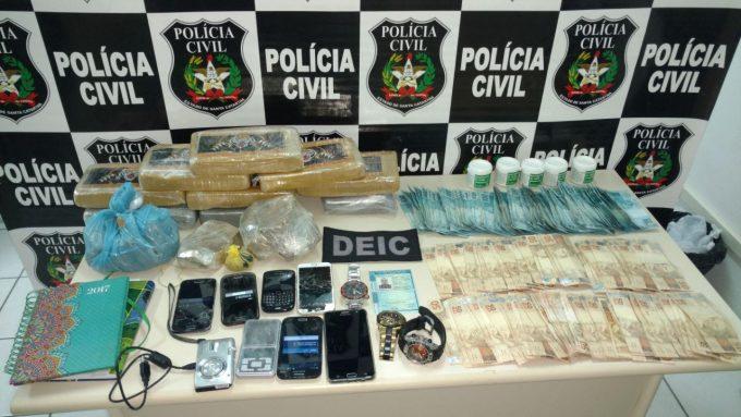 Polícia Civil apreende, pela primeira vez em SC, droga que induz ao canibalismo