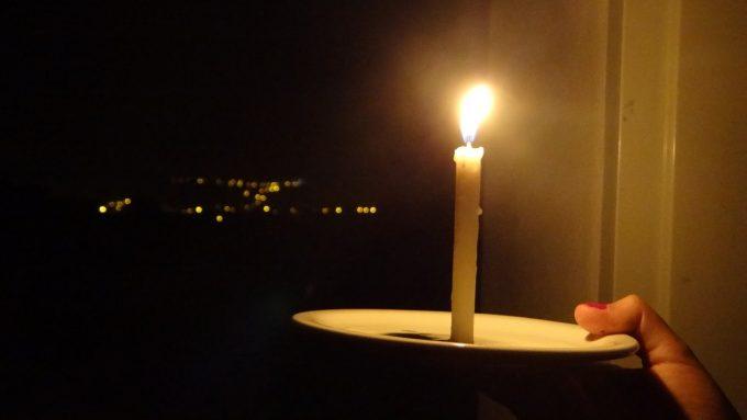 Sem energia elétrica sem luz