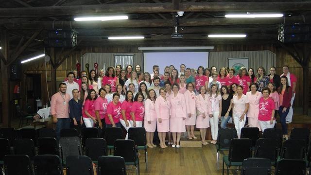 Rede Feminina, Secretaria de Saúde e Unibave realizam encontro alusivo ao Outubro Rosa