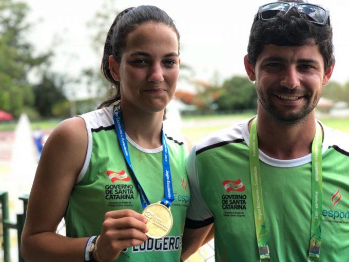 Atleta de São Ludgero conquista medalhas de ouro e prata nos Jogos Escolares da Juventude