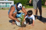 Clube Nossa Horta promove plantio de 150 mudas de árvores para compensar carbono emitido