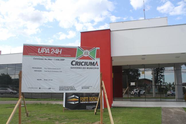 Empresa abandona obra da UPA, em Criciúma
