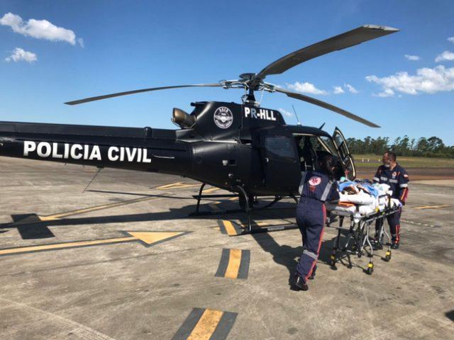 Saer transporta idosa de Araranguá a hospital de Curitibanos