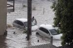 Chuva forte deixa ruas alagadas em Criciúma2
