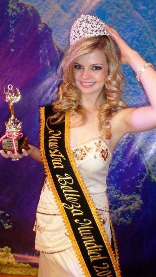 Luiza Baum Miss Ireneópolis Miss ECO Santa catarina e Miss ECO Brasil 2012 no Peru conquistou o título internacional Nuestra Beleza Mundial 2012