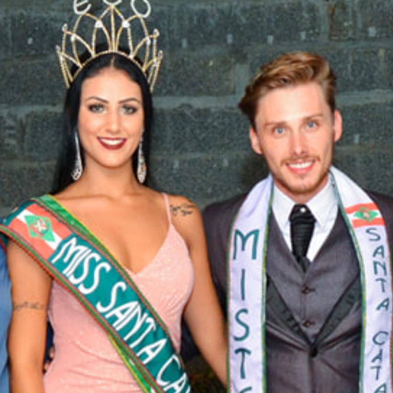 Miss e Mister ECO Santa Catarina 2019 Adriane e Rodrigo