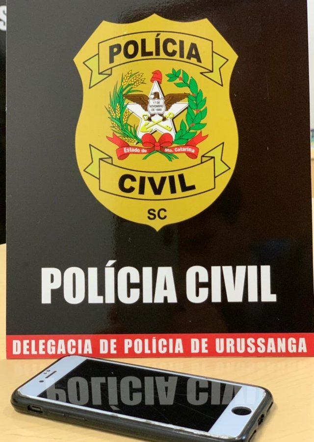Polícia Civil de Urussanga cumpre busca e apreende celular para investigação de crime de homicídio