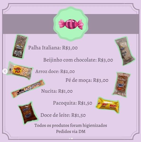 Estudantes do Terceirão do Colégio Unibave realizam venda de doces para arrecadar dinheiro para a formatura