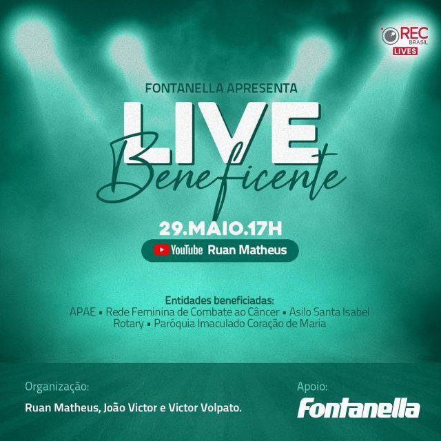 Live beneficente será promovida em prol de entidades de Lauro Müller no dia 29 de maio