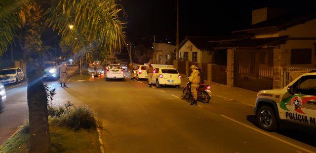 Polícia Militar de Orleans deflagra operação Ruas Seguras