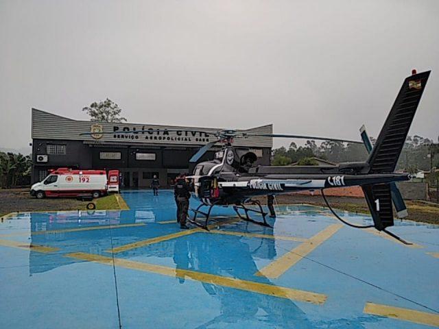 Morador de Urussanga é transportado por aeronave para receber transplante