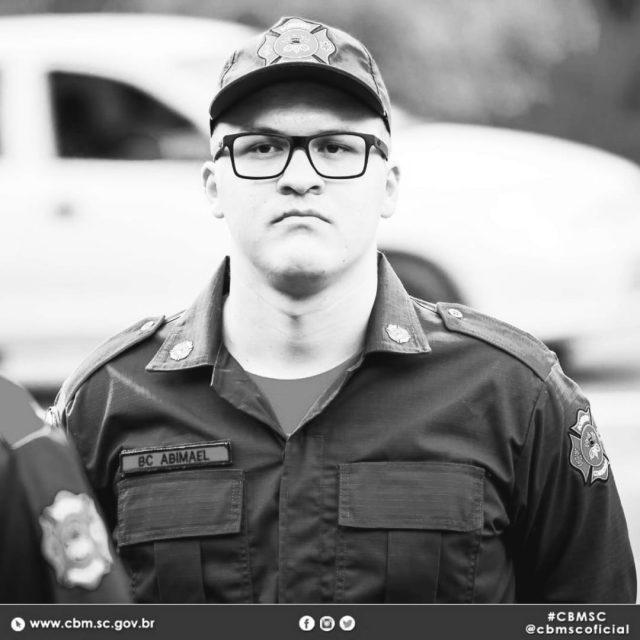 Corpo de Bombeiros Militar de Orleans lamenta a morte Abimael Ferreira, bombeiro voluntário