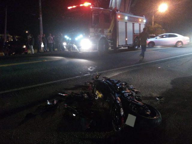 Motociclista fica gravemente ferido após colisão com carro na SC-108, em São Ludgero