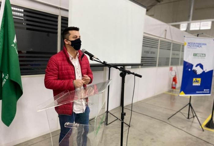 Beto participa do lançamento do Laboratório de Marcenaria Moderna do Sesi Senai BN 9