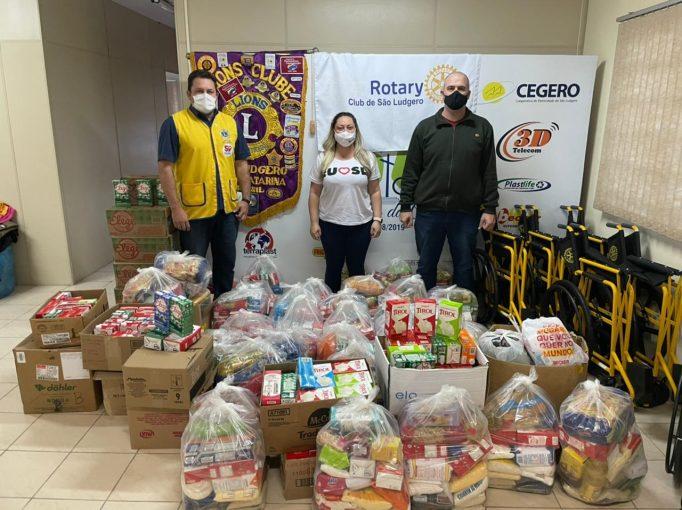 Chopp Solidário realizado em São Ludgero arrecadou 591 litros de leite e 569 quilos de alimentos